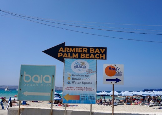 There is a few beach club options at Armier Bay
