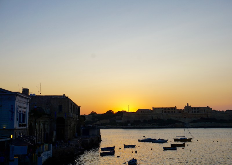 Looking out from Valetta
