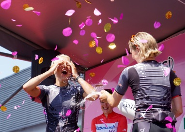 Barbara and Tiffany celebrate together. ©Tiffany Cromwell