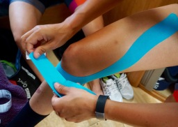 Knee Taping ©Tiffany Cromwell