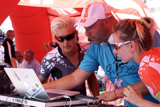 Barbara and Alena choosing the beats at sign on. ©Tiffany Cromwell