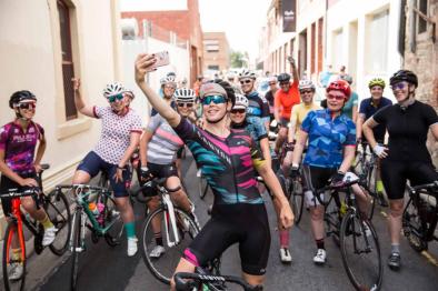 It's all about the selfie to kick start the Rapha Women's Ride © Beardy McBeard