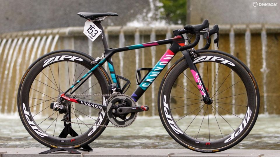 Tiffany Cromwell's Canyon Ultimate CF SLX with SRAM eTap by