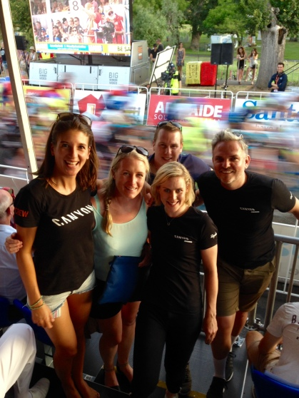 Tiffany with the Canyon Team Watching the People's Choice Cycling Classic ©WMNCycling