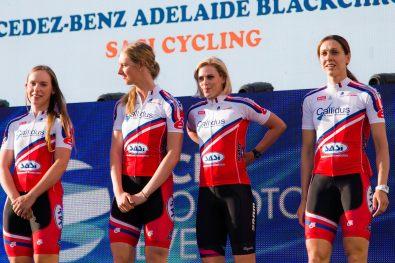Team Presentation of the SASI Team of the Santos Women's Tour