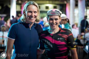 Tiffany with Australian Swimming Legend Susie O'neil ©Kirsty Baxter