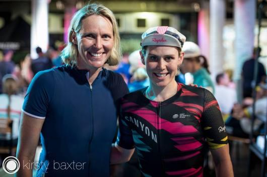 Tiffany with Australian Swimming Legend Susie O'neil ©Kirsty Baxter