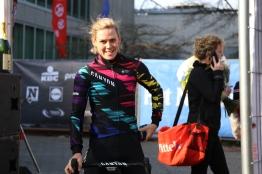 All smiles after Tiffany's Omloop Het Nieuwsblad podium. ©Rapha