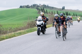 Tiffany Cromwell and Amy Pieters start to push the pace - 2016 Strade Bianche - Elite Women, a 121km road race from Siena to Piazza del Campo on March 5, 2016 in Tuscany, Italy. ©Velofocus