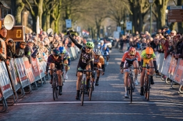 Leah Kirchmann (Liv Plantur) wins Drentse 8, a 140km road race starting and finishing in Dwingeloo, on March 13, 2016 in Drenthe, Netherlands. ©Velofocus