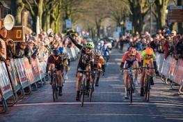 Leah Kirchmann (Liv Plantur) wins Drentse 8, a 140km road race starting and finishing in Dwingeloo, on March 13, 2016 in Drenthe, Netherlands. ©Velofocus