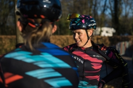 Tiffany Cromwell catches up with her teammates - Drentse 8, a 140km road race starting and finishing in Dwingeloo, on March 13, 2016 in Drenthe, Netherlands. ©Velofocus