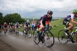 Tiffany Cromwell (AUS) of CANYON//SRAM Racing ride up the first QOM climb during the Aviva Women's Tour 2016 - Stage 2. A 140.8 km road race from Atherstone to Stratford upon Avon, UK on June 16th 2016. ©Velofocus