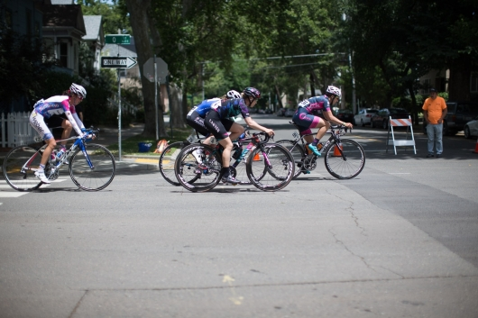 Tiffany Cromwell (AUS) of CANYON//SRAM Racing rides at the front of the peloton during the fourth, 70 km road race stage of the Amgen Tour of California - a stage race in California, United States on May 22, 2016 in Sacramento, CA. ©Velofocus