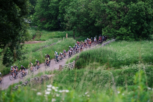 Heading to the hills at Aviva Women's Tour 2016 - Stage 3. A 109.6 km road race from Ashbourne to Chesterfield, UK on June 17th 2016. ©Velofocus