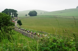 Racing through the Peak District at Aviva Women's Tour 2016 - Stage 3. A 109.6 km road race from Ashbourne to Chesterfield, UK on June 17th 2016. ©Velofocus