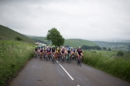 The peloton rides through the dales of the Peak District during the Aviva Women's Tour 2016 - Stage 3. A 109.6 km road race from Ashbourne to Chesterfield, UK on June 17th 2016. ©Velofocus