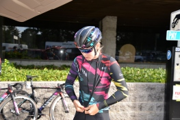 Tiffany Cromwell getting prepared for Stage 3 in Santa Rosa, CA ©WMNCycling