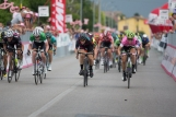 Tiffany Cromwell (AUS) of CANYON//SRAM Racing wins second group's sprint during the the Giro Rosa 2016 - Stage 1. A 104 km road race from Gaiarine to San Fior, Italy on July 2nd 2016. ©Velofocus