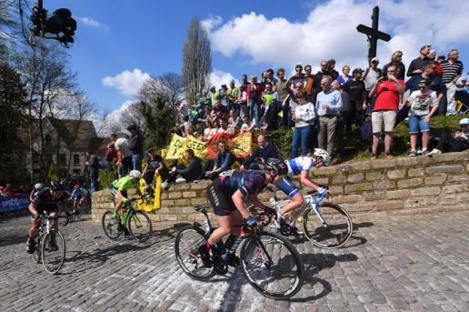 The infamous Muur van Geraardsbergen in the Ronde van Vlaanderen